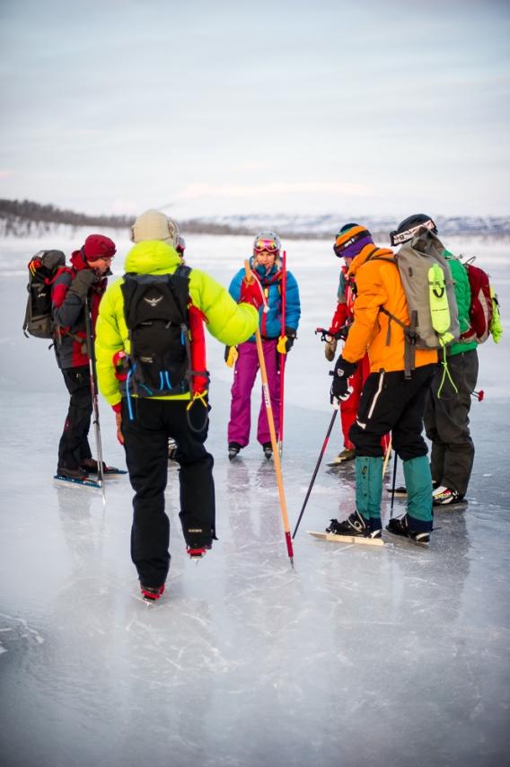 Samling på isen